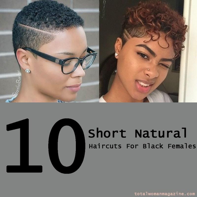 short natural hair for black females