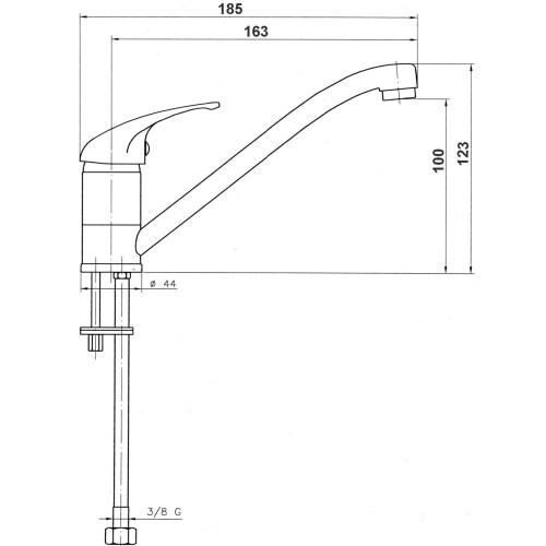 Baterie stativa pentru bucatarie Ferro, Titania Iris