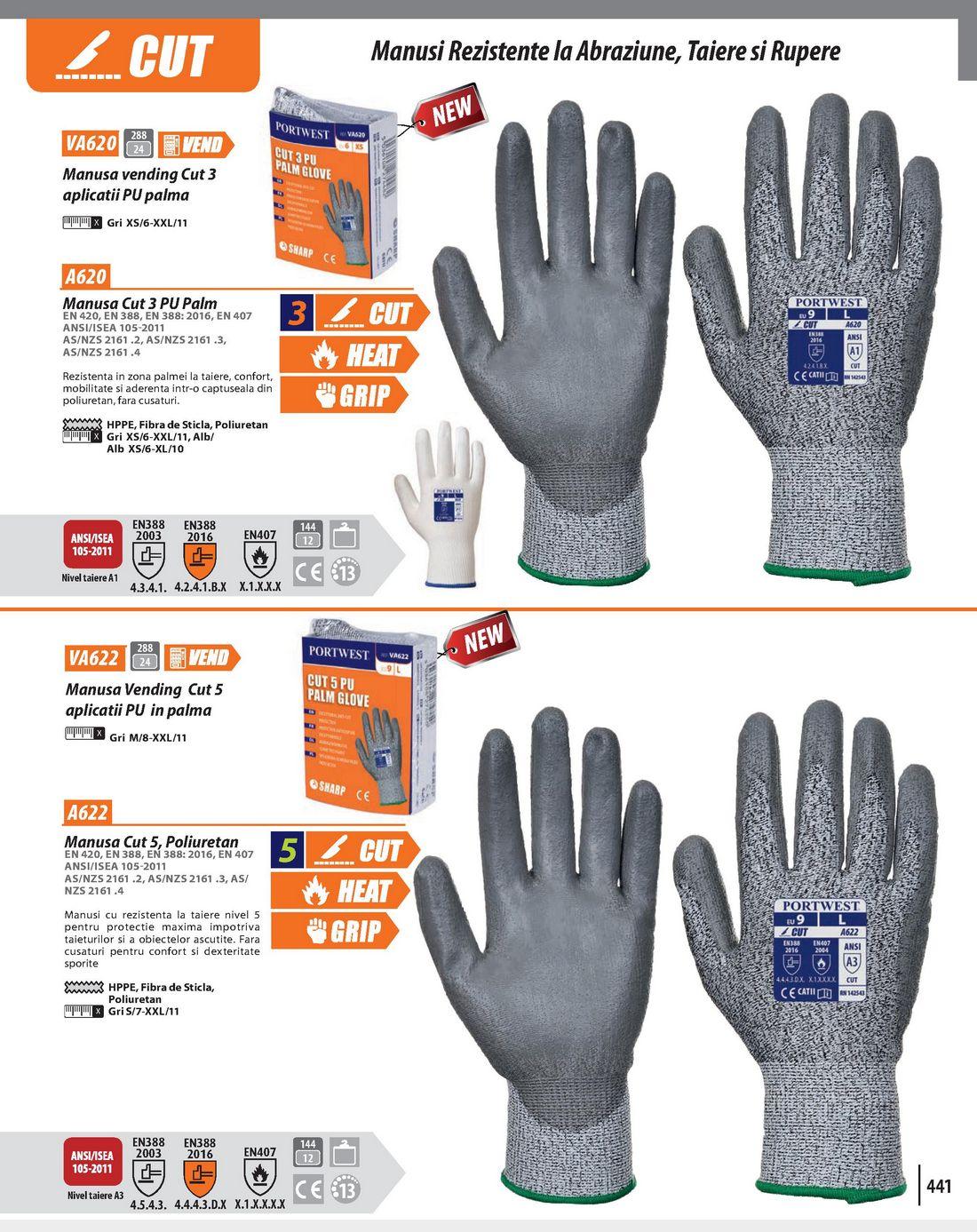 Manusa Vending Cut 5 aplicatii PU in palma PortWest VA622 desc