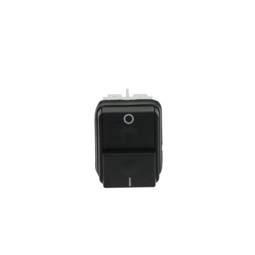 Intrerupător de presiune dreptunghiular negru 2NO 250V 12A 0-I racord fișă plată masculină 6,3mm