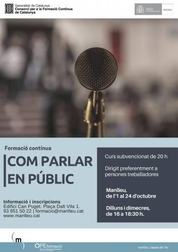 curs parlar en públic