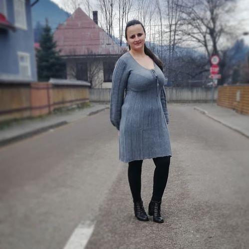 rochie tricotata,colanti termo bonprix