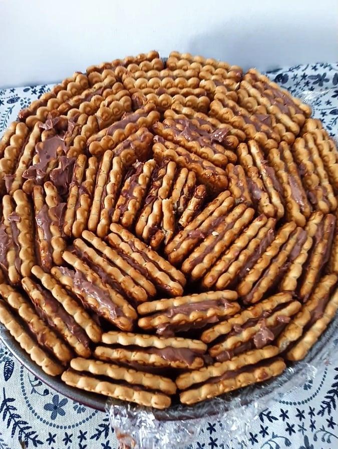 tort de biscuiti cu mascarpone si nutella, salam de biscuiti