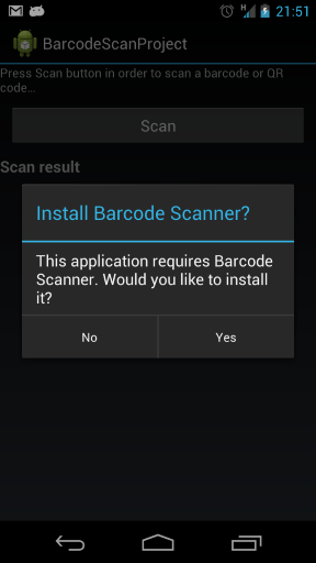 barcode scanner installed question