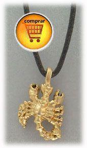 scorpio gold pendant zodiac