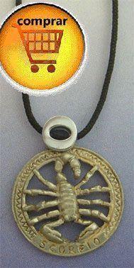 colgante horóscopo signo zodiaco escorpión