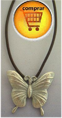 colgante mariposa de plata de ley 925