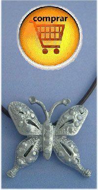 colgante mariposa de plata