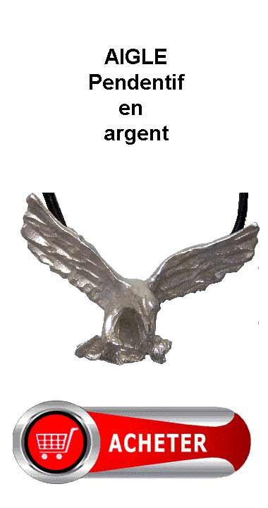 aigle pendentif argent amulette signification