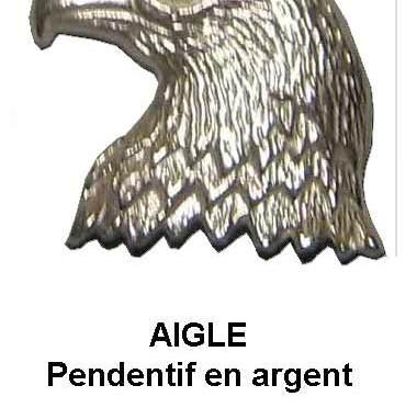 aigle pendentif argent signification symbole