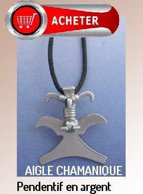 aigle chamanique pendentif argent amulette précolombienne bijoux signffication symbole