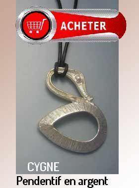 cygne pendentif argent bijoux signification symbole
