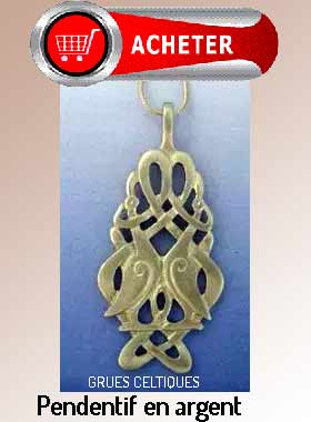 grues pendentif noeud celtique signification symbole