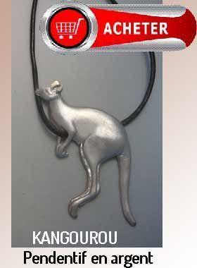 kangourou pendentif argent bijoux signification symbole