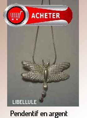 libellule pendentif argent bijoux signification symbole