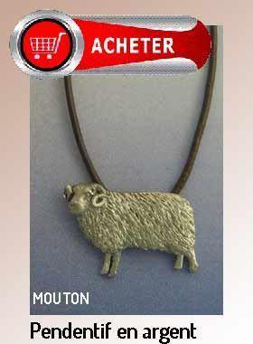 mouton pendentif argent bijoux signification symbole
