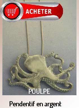 poulpe pendentif argent bijoux signification symbole