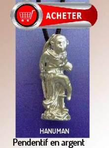 Hanuman dieu singe hindouisme argent bijoux signification symbole