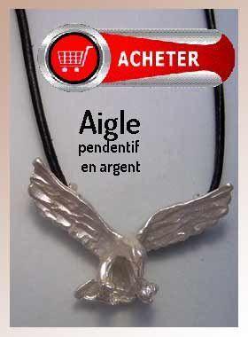 aigle pendentif argent bijoux signification symbole