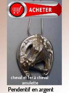 cheval et a fer pendentif argent signification symbole pour le bonne chance