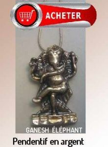 Ganesh éléphant dieu pendentif hindouisme argent bijoux signification symbole