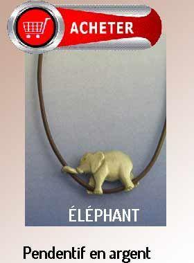 éléphant pendentif argent bijoux signification symbole