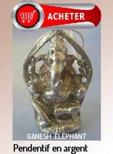 Ganesh pendentif dieu eléphant bijoux argent signification symbole hinduisme