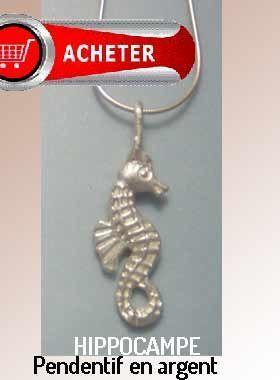 hippocampe pendentif argent bojoux signification symbole