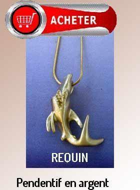 requin pendentif argent bijoux signification symbole