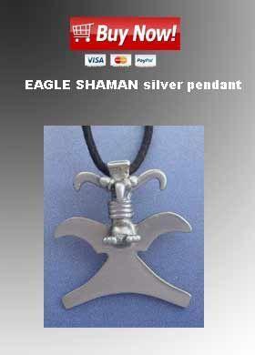 eagle shaman silver pendant