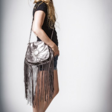 Eleanor & Silver Metallic Fringe