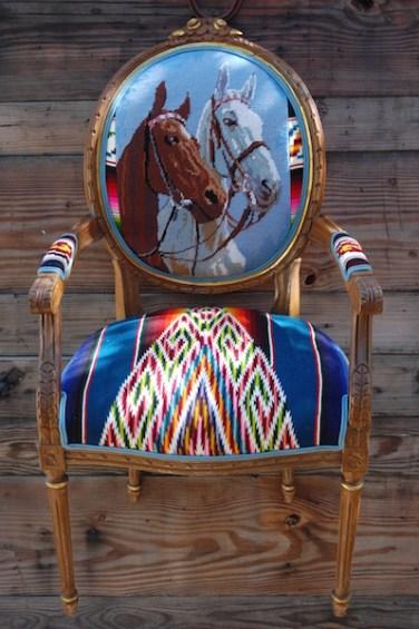 Blue 2 Horse Head Serape