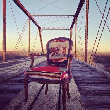 Chair on bridge Oklahoma