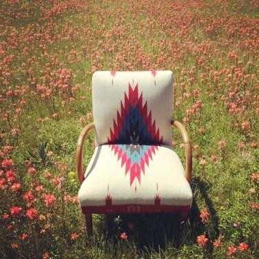 Chimayo Chair in Flower Field