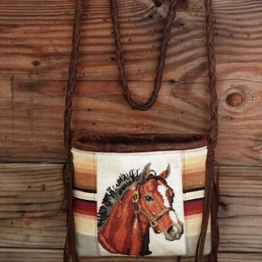 Vintage Horse Needlepoint-crossbody