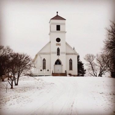 Montana White Church & Snow