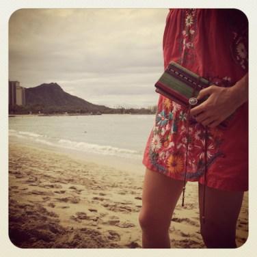 Green wallet Beach