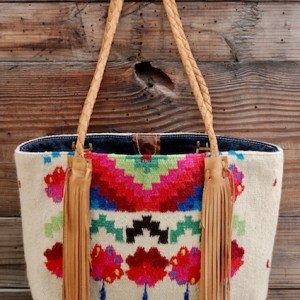 Vintage Hand Woven TOTeM Tote