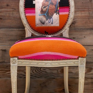 Donkey Orange Textile Chair