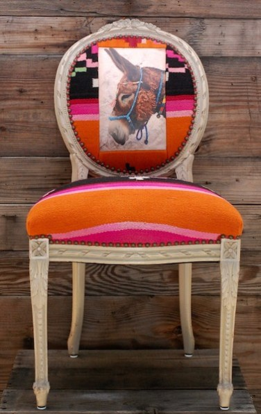 Donkey Orange Textile Chair