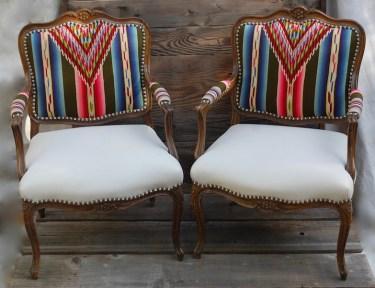 Twin Serape's w: White Leather