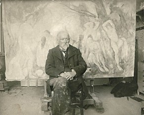 Émil_Bernard,_Paul_Cézanne_in_his_studio_at_Les_Lauves,_1904