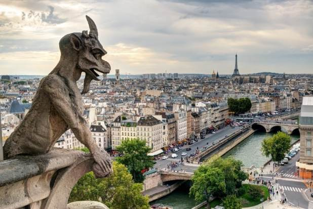 A view of Paris from Notre Dame