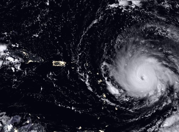 Hurican Irma as seen from space