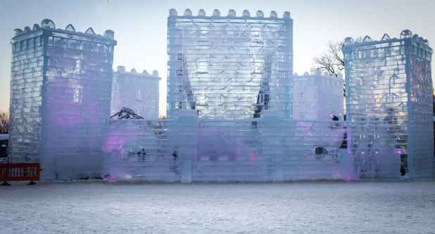 Ice castle in Quebec City