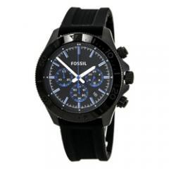 FOSSIL Retro Traveler Chronograph Silicone Watch Black