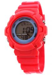 FMD by Fossil Ladies Standard 3 Hand Analog Plastic Watch Red