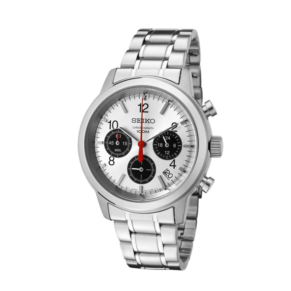 Seiko Chronograph 100M Stainless Steel Watch SSB003P1