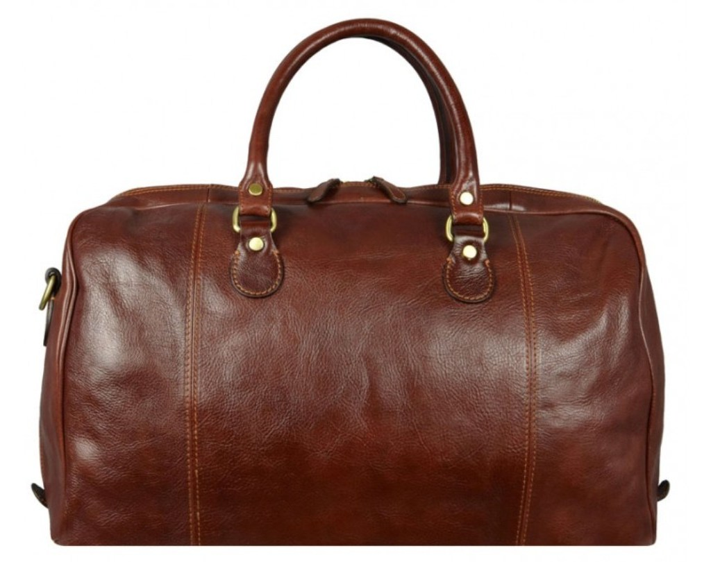 981c825c2dd2 BROWN LEATHER DUFFEL BAG – MONTE CRISTO by Time Resistance