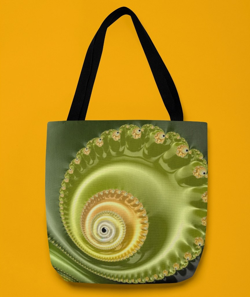 Emerald Smooth Helix - Tote Bag